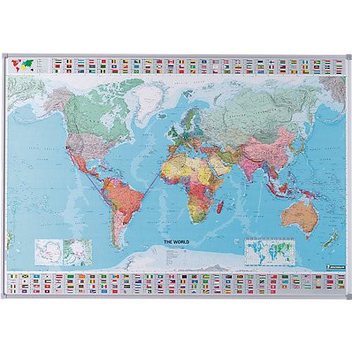 Magnettafel Sanders Welt-/Deutschlandkarte