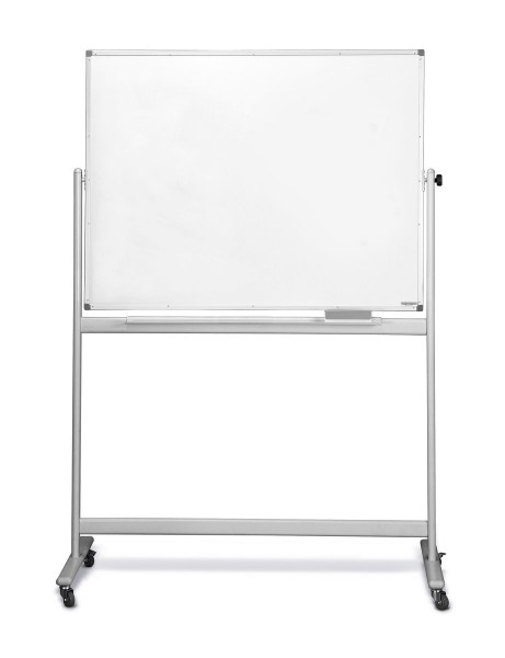 Whiteboard-Drehtafel magnetoplan mobil, emailliert
