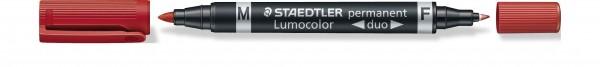 10er Set Permanent-Marker STAEDTLER Lumocolor duo, Rundspitze