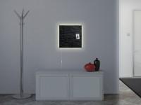 Glasmagnetboard Sigel artverum Schiefer LED light