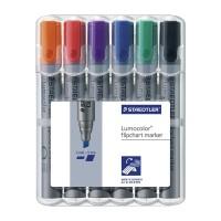 Flipchart-Marker STAEDTLER Lumocolor 356, 6er-Set