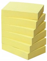 Post-it Recycling Notes, gelb, 6er-Set