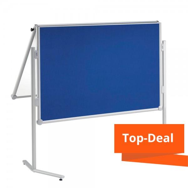 Kombitafel MAUL pro Textil/Whiteboard, klappbar
