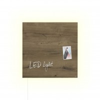 Glasmagnettafel Sigel artverum Wood LED light