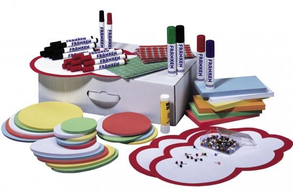 Moderations-Set Franken, Weiße Kartonbox
