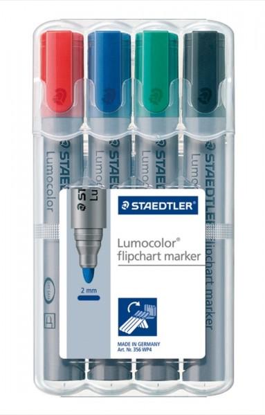 Flipchart-Marker STAEDTLER Lumocolor 356, 4er Set