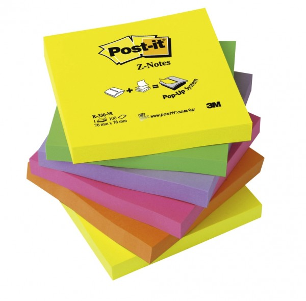 Post-it Z-Notes neon