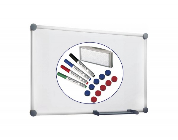 Whiteboard-Set MAUL 2000, B 900 x H 600 mm