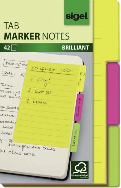 Haftnotizen Sigel Tab Marker Notes