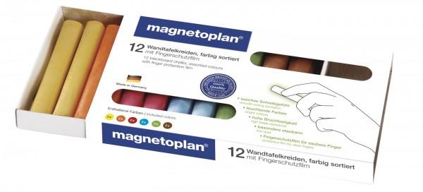 Wandtafelkreide magnetoplan farbsortiert, 12er-Set