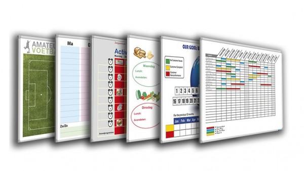 Whiteboard Smit Visual, inkl. Wunschdruck - B 1200 x H 900 mm