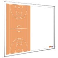 Basketballtafel Smit Visual, Querformat halbseitig