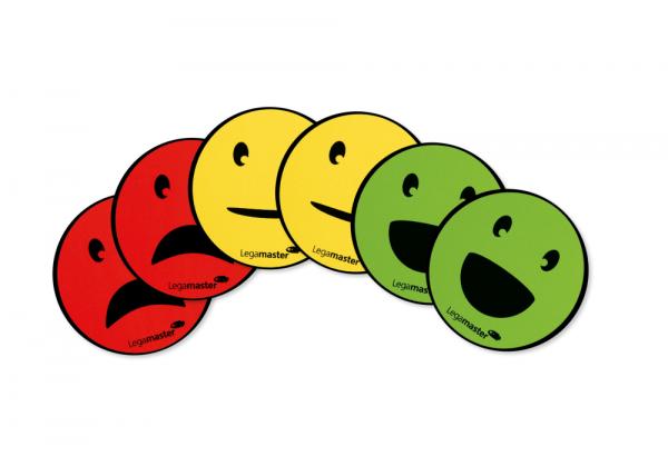 Magnetset Legamaster Emoticon, 6 Stück