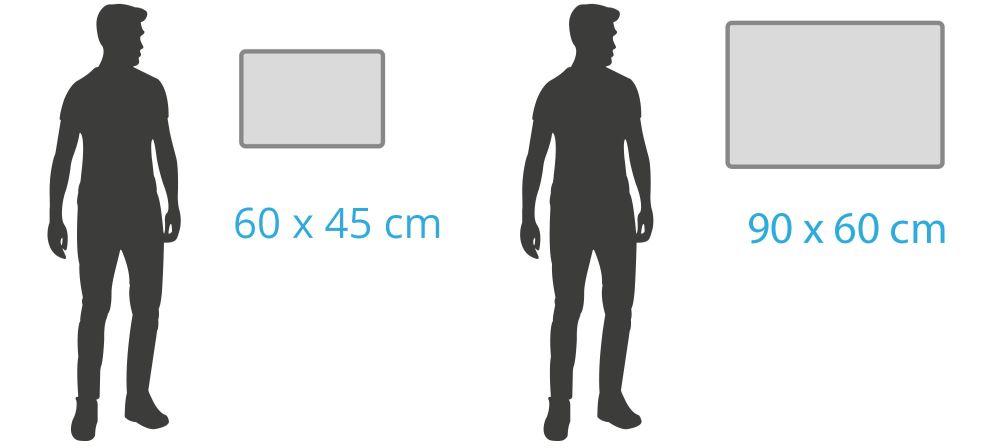Kleine Whiteboards ab 60 x 45 cm