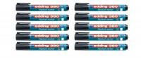 Flipchart-Marker edding 380/383, schwarz, 10er-Set