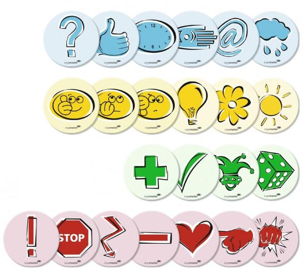 Moderationskarten Legamaster, Symbole