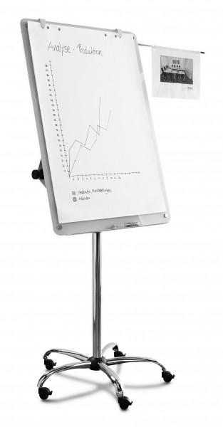 Glas-Flipchart Bi-Office, mobil