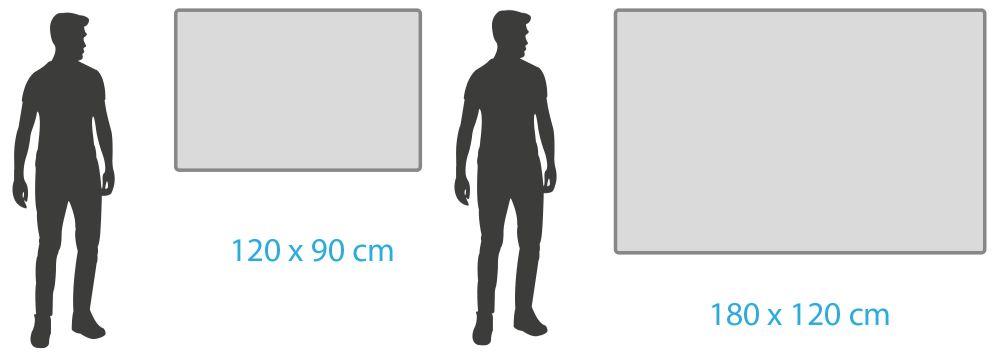 Mittelgroße Whiteboards ab 120 x 90 cm