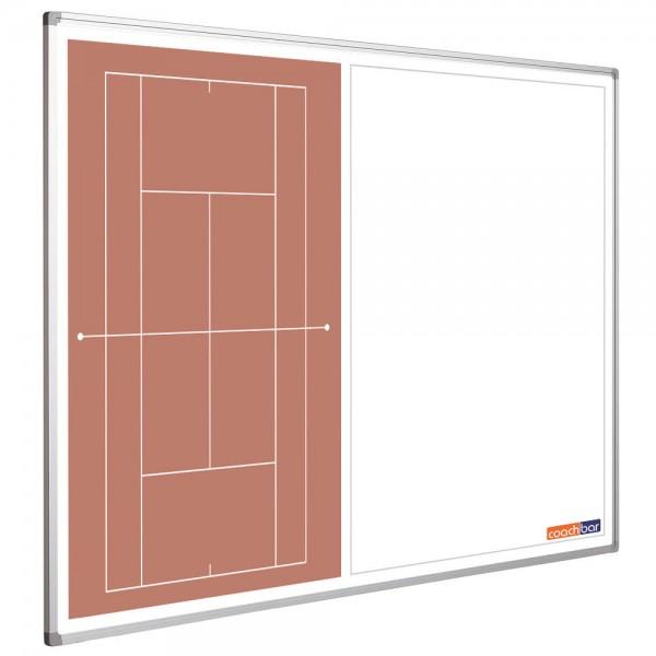 Tennistafel Smit Visual, Querformat halbseitig