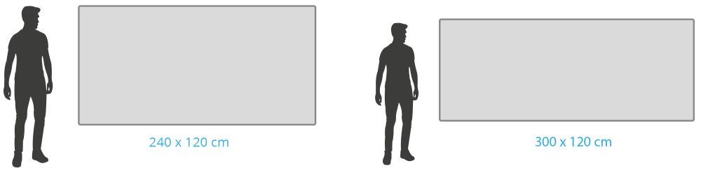 Große Whiteboards über 180 x 120 cm