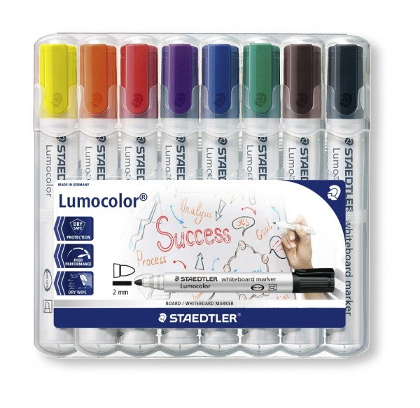 Whiteboard-Marker STAEDTLER Lumocolor, 8er-Set