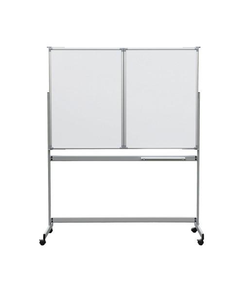 Whiteboard-Klapptafel MAUL mobil, zwei Flügel