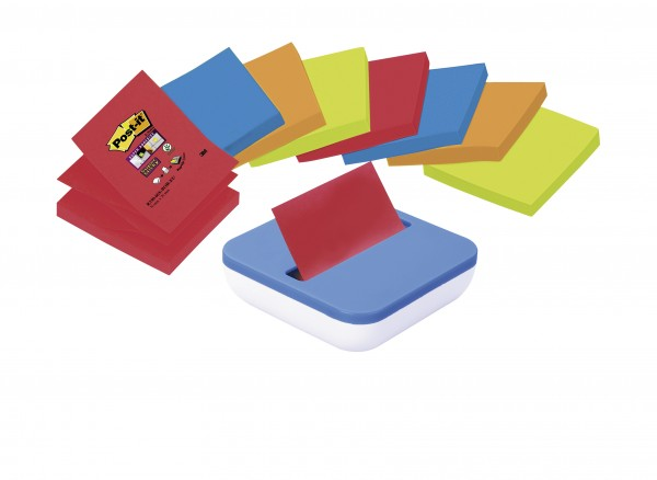 Post-it Super Sticky Z-Notes, inklusive Spender