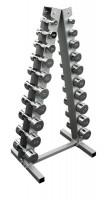 Hantelständer SVG, inkl. 10 Paar Chromhanteln 1-10 kg