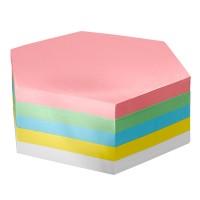 Moderationskarten FairPaper, Waben, 5x100 Blatt