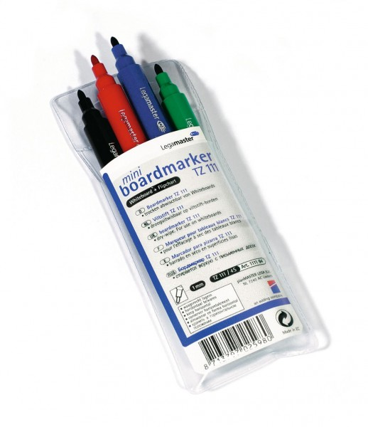 Mini Whiteboard-Marker Legamaster TZ 111, farbsortiert