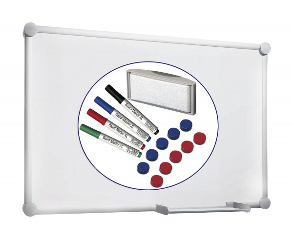 Whiteboard-Set MAUL 2000, graue Ecken