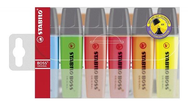 Textmarker STABILO BOSS Original, 6er-Set