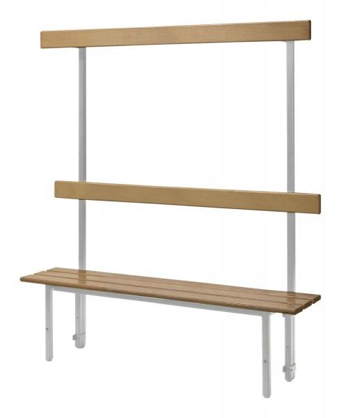 Sitzbank für Umkleideräume SSI Schäfer, mit Rückwand