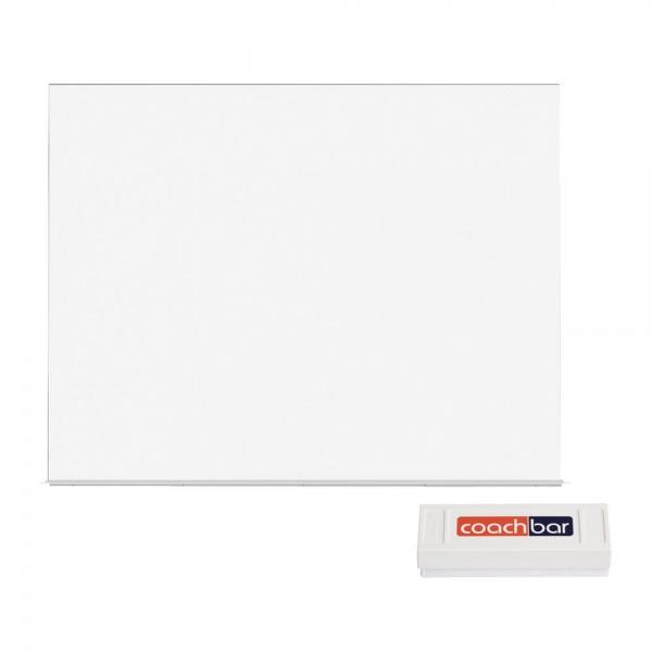 Whiteboard-System rocada Skin, 1500 x 1000 mm - inkl. Wischer